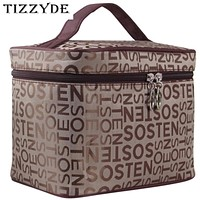 Letters Cosmetic Bag Women Waterproof Professional Beauty Bag Toiletry Kit Wash Necessary Travel Organizer Make up Bags