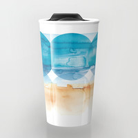 Sand and Surf Travel Mug by noondaydesign