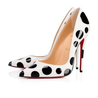 Christian Louboutin Cl So Kate Bubble Latte/black Leather 18s Pumps 1181129h195
