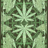 Hempest Tapestry 60x90 Marijuana leaf weed pot cannabis hippy stoner bud wall ha