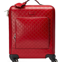 Gucci GG Signature Carry-On Trolley, Red