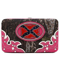 Camo Rebel Flag Wallet