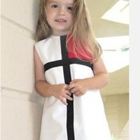 Striped Girls Pattern Dress