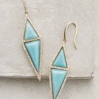 Pave Amazonite Drops by Melanie Auld Turquoise One Size Earrings