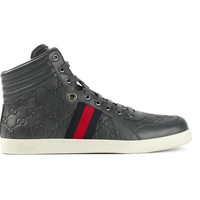 Gucci monogram hi-top sneakers
