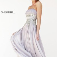 Embellished Ruched Gown by Sherri Hill