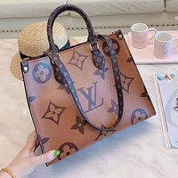 LV Louis Vuitton Newest Hot Sale Women Shopping Leather Handbag Tote Shoulder Bag Satchel