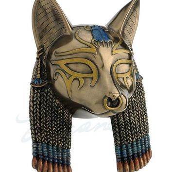 Bastet Portrait Egyptian Cat Goddess Wall Hanging