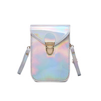 2017 New Mini Holographic Cross Body Bag for Women Messenger Bags Solid Silver Young Women Shoulder Bag Summer-in Shoulder Bags from Luggage & Bags on Aliexpress.com   Alibaba Group