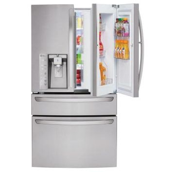 LG Electronics 29.7 cu. ft. French Door-In-Door Refrigerator in Stainless Steel with CustomChill Drawer-LMXS30776S - The Home Depot