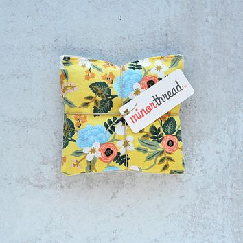 Lavender Sachets in Yellow Floral Primavera - Set of 2