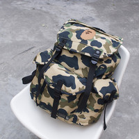 On Sale Back To School Casual Stylish Hot Deal Comfort College Korean Bags Camouflage Pc Backpack [10507735879]