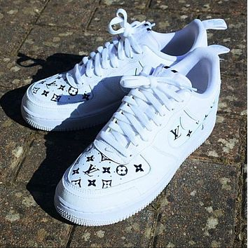 LV Louis Vuitton x NIKE AIR FORCE 1 AF1 ladies and men's low-top casual sneakers shoes
