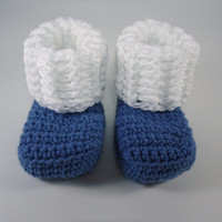 "Baby socks, crochet socks, baby booties, baby accessories, baby shoes - For him and her - Newborn to 3 months - Up to 9 cm (3.5"")"