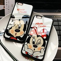 Mickey Mouse / Minnie Mouse Case For iPhone 7 SE 5/5s 6 6s / plus 7 plus