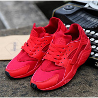 Red Custom Huarache Run