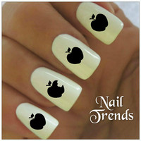 Nail Decal Apples 20 Vinyl Stickers Nail Art