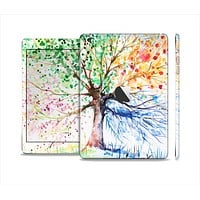 The WaterColor Vivid Tree Skin Set for the Apple iPad Mini 4
