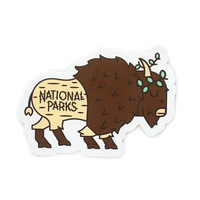 Queen Bison National Park Sticker