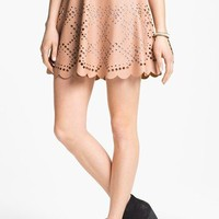 Blu Pepper Laser Cut Faux Leather Skirt (Juniors) (Online Exclusive) | Nordstrom