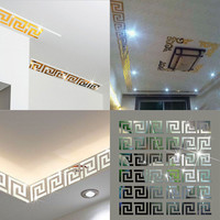 10 pcs Puzzle Labyrinth Acrylic Mirror Wall Decal Art Stickers Home Decor