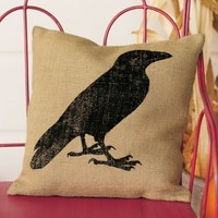 Raven Pillow - VivaTerra
