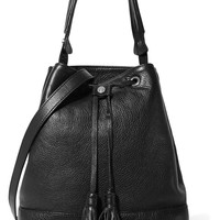 Sandro Atika textured-leather shoulder bag – 60% at THE OUTNET.COM
