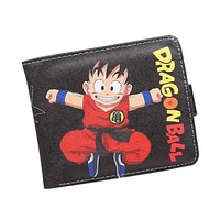 Japanese Cartoon Wallet Hasp Dragon Ball Z Wallet For Teenager Boy & Girl Ultra Thin Short Anime Wallet Purses Sun Goku carteira