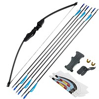 Wooden Takedown Bow and Arrow Set 40lbs for Adults (Beginners & Advanced)