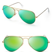 Ray-Ban Polarized Mirrored Aviator Sunglasses, 58mm | Bloomingdales's
