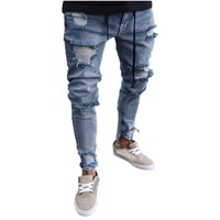 Trendzone 5/26 Mens Skinny Stretch Denim Pants Distressed Ripped Freyed Slim Fit Jeans Trousers Free Shipping
