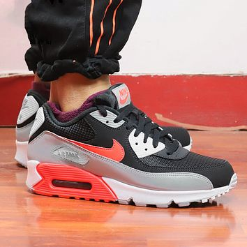 NIKE Air Max 90 Popular Women Casual Sport Running Sneakers Shoes Black&Grey&Red