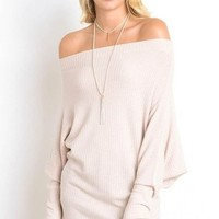 Harmony Off Shoulder Relaxed Knit (More Colors)
