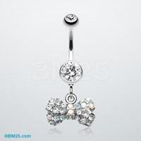 Dainty Bow-Tie Belly Button Ring
