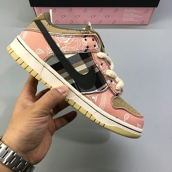 Travis Scott x Nike SB Dunk Low Jackboys men and women casual wild sports shoes