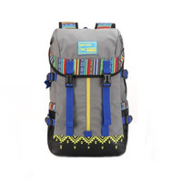 Casual Ethnic Style Large Hiking Camping Unique Backpack Travel fashion bag Daypack