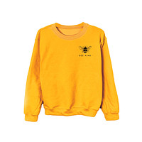 Bee Kind Sweatshirt (Single Color Print)