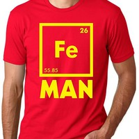 Iron Science T Shirt Funny Chemistry Shirt Fe Periodic Table Tee, Size XL