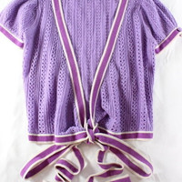 "~~~ SOOO PRETTY ~ CALYPSO CHRISTIANE CELLE ""POINTELLE-KNIT"" CASHMERE SWEATER ~ S"