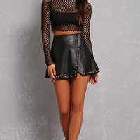 Mesh Knit Crop Top