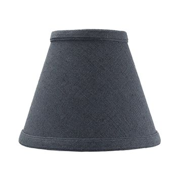 """6""""W x 5""""H Textured Slate Blue Chandelier Lamp Shade -"""
