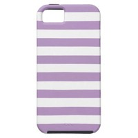 African Violet And Large White Stripes Patterns iPhone 5 Cases from Zazzle.com