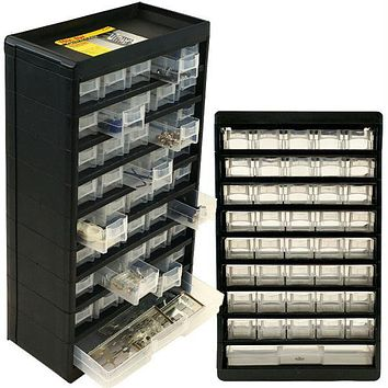 Stalwart? 41 Compartment Durable Plastic Hardware Sto