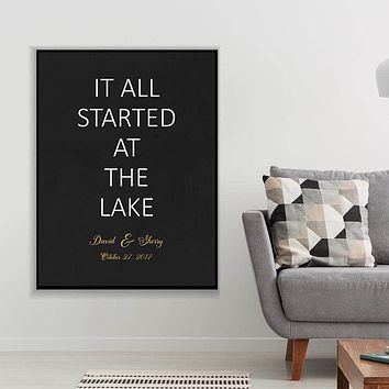 Where It All Started Custom Canvas Set