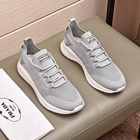 prada men fashion boots fashionable casual leather breathable sneakers running shoes 55