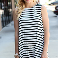 Stripes Of A Feather Dress