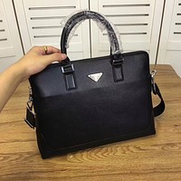 PRADA MEN LEATHER CASUAL BAG SHOULDER BAG