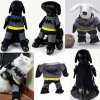 Pet Dog Clothes Batman Costume Outfit Cotton Jumpsuit Pants = 1927849092