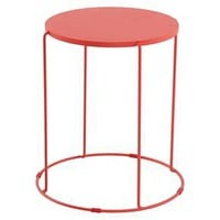 Metal Accent Patio Table Coral - Room Essentials™