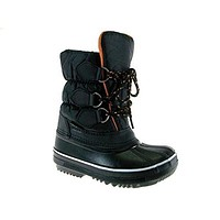 Kids BHD-06I Quilted Lace Up Winter Boots